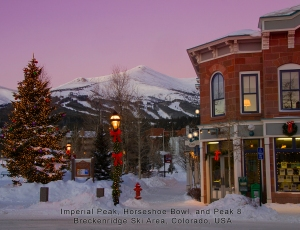 Breckenridge Ski Area from Main Street.