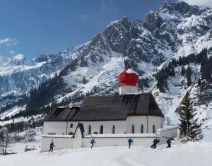 Stuben Ski Area, St Anton Ski Area, Austrian church, Austria